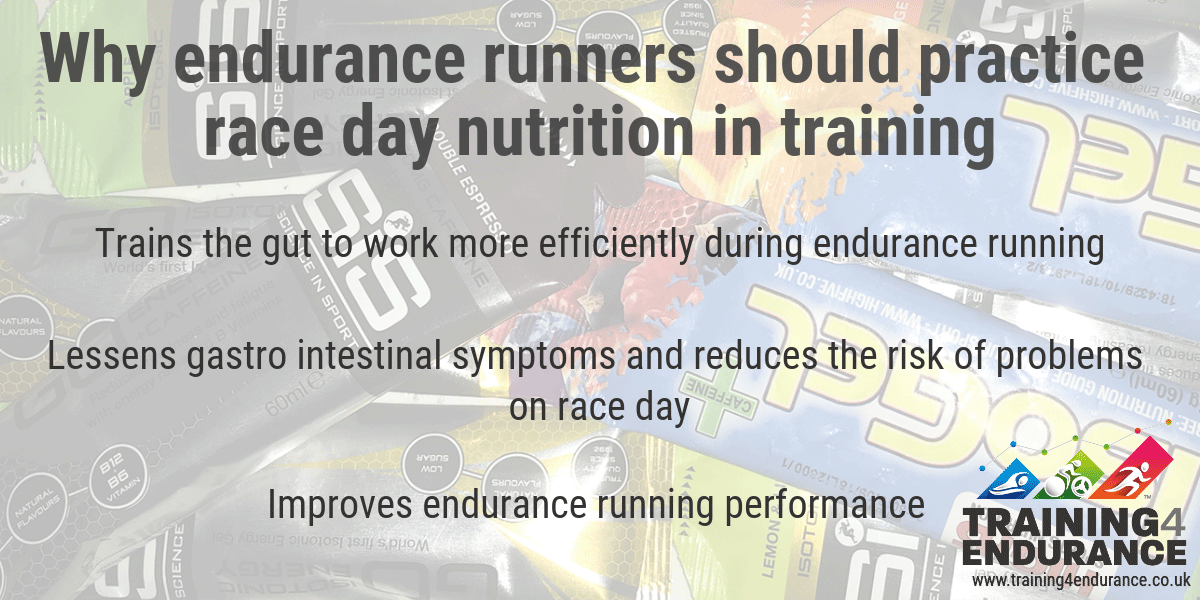 Why endurance runners should practice race day nutrition in training