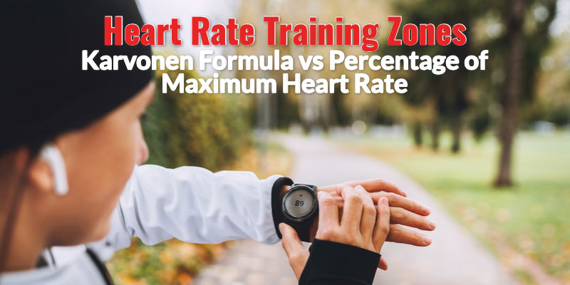 Heart rate training zones Karvonen formula